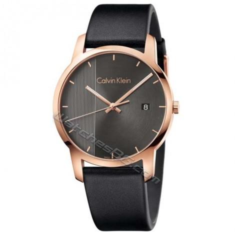 """Мъжки швейцарски кварцов часовник Calvin Klein """"City"""" K2G2G6C3"""