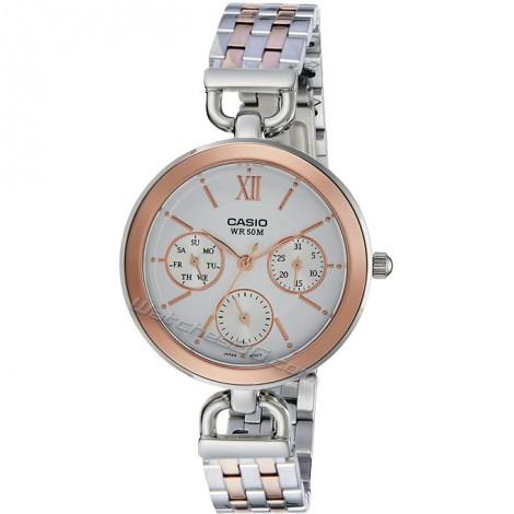 Елегантен дамски кварцов часовник CASIO LTP-E406BPG-7AV Collection