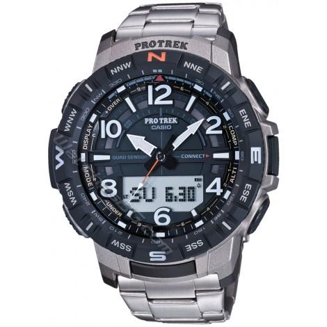 Спортен мъжки кварцов часовник CASIO Pro Trek PRT-B50T-7ER Bluetooth