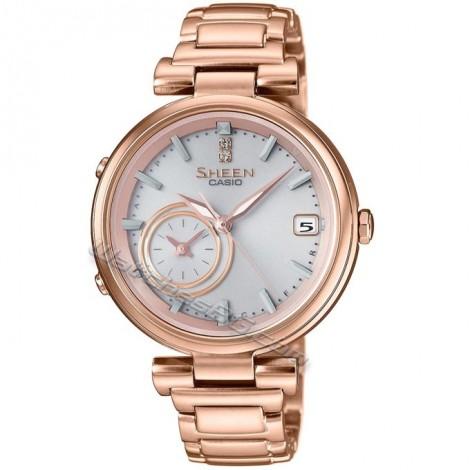 Елегантен дамски кварцов часовник Casio SHEEN SHB-100CG-4AE Bluetooth
