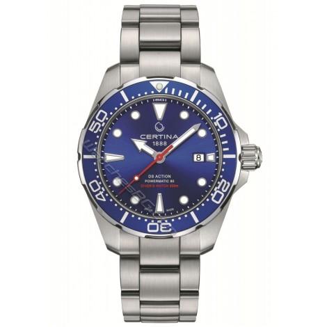 Швейцарски мъжки механичен часовник CERTINA DS Action Diver C032.407.11.041.00 Powermatic 80