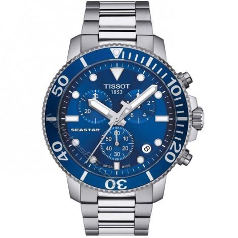 Мъжки кварцов часовник TISSOT Seastar T120.417.17.041.00 CHRONOGRAPH