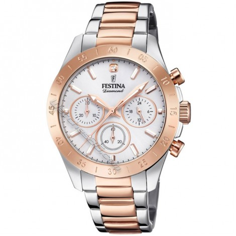 Дамски кварцов часовник Festina Boyfriend F20398/1 Chronograph