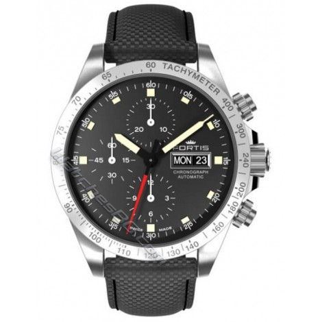 Мъжки механичен часовник FORTIS Stratoliner Steel 401.21.31 LP.10 Chronograph