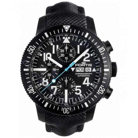 Мъжки часовник FORTIS Diver Black 638.18.41 LP.10 Chronograph