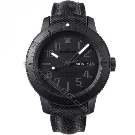 Елегантен часовник FORTIS Pitch Black 647.28.81 LP