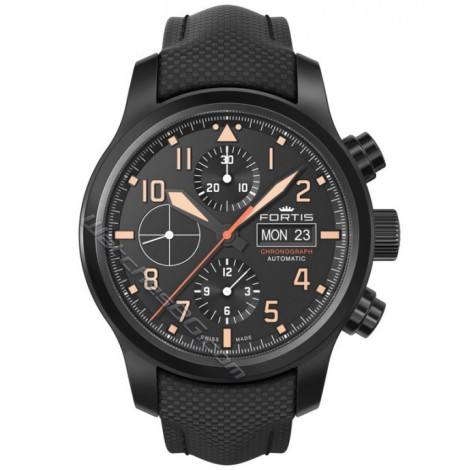 Мъжки механичен часовник FORTIS Aeromaster Stealth 656.18.18 LP Chronograph