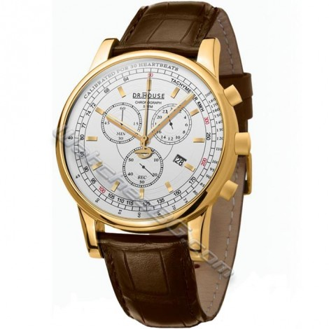 Мъжки часовник KRONSEGLER DR.HOUSE Pulsometer Chronograph KS785Gold