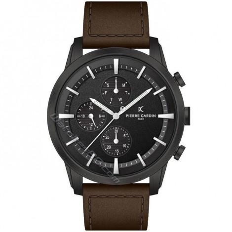Mъжки кварцов часовник Pierre Cardin Champeret Black PC902741F103