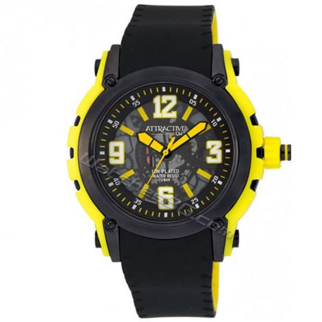"""Мъжки кварцов часовник Q&Q """"ATRACTIVE"""" DA44J515Y"""