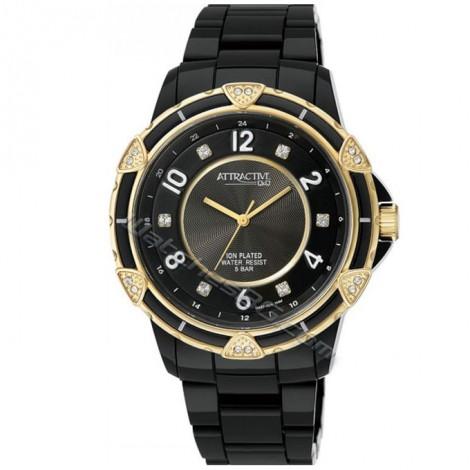 """Дамски кварцов часовник Q&Q """"Attractive"""" DA57J004Y"""