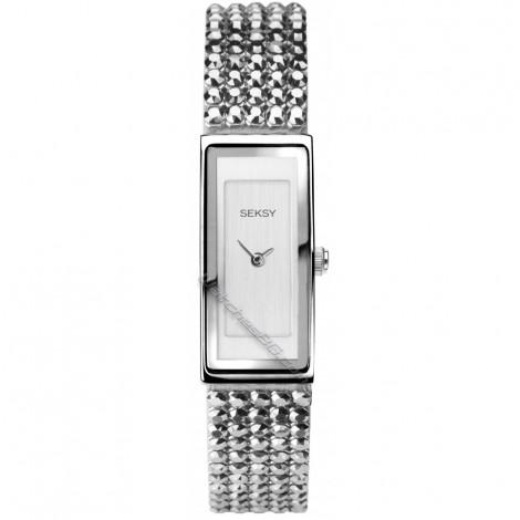 Дамски кварцов часовник Seksy Shimmer Swarovski S-2849.37