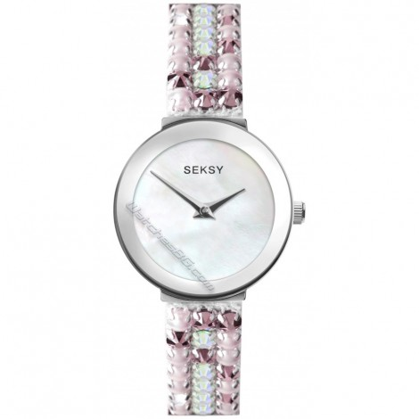 Дамски кварцов часовник eksy Iridescent Pink Slim S-2949.37