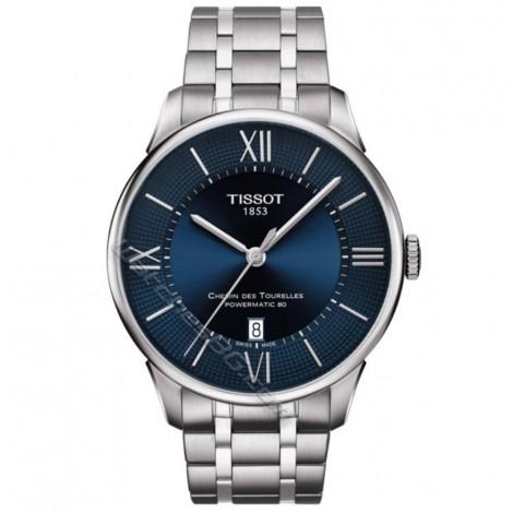 Швейцарски мъжки часовник TISSOT Powermatic 80 CHEMIN DES TOURELLES T099.407.11.048.00