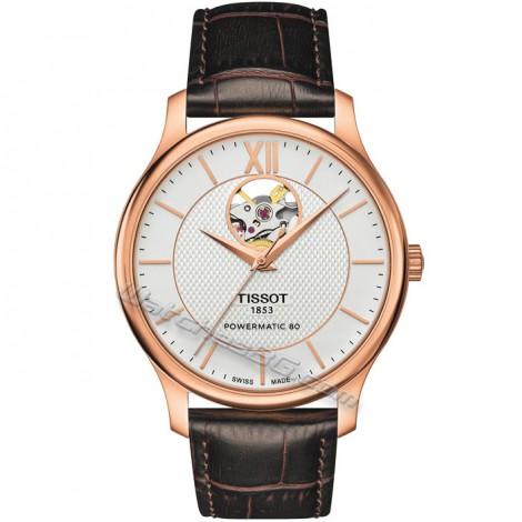 "Мъжки часовник TISSOT ""TRADITION"" Powermatic 80 T063.907.36.038.00"