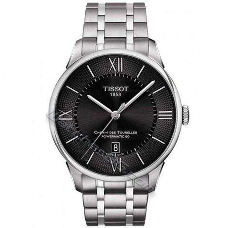 Часовник TISSOT Powermatic 80 CHEMIN DES TOURELLES T099.407.11.058.00