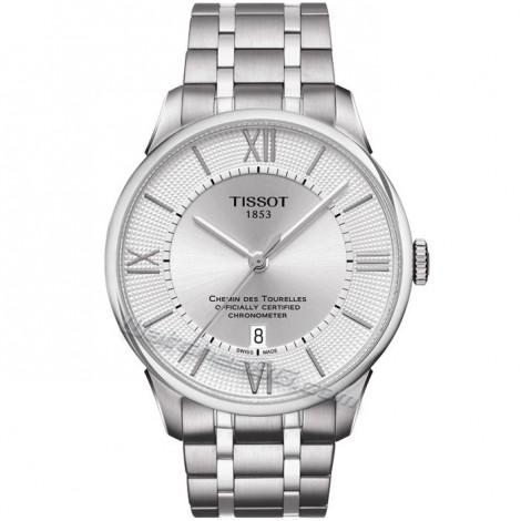 """Мъжки механичен часовник TISSOT Powermatic 80 """"Chemin Des Tourelles"""" T099.408.11.038.00"""