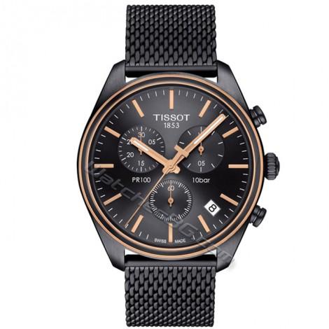 """Швейцарски мъжки кварцов часовник TISSOT """"PR 100"""" T101.417.23.061.00"""