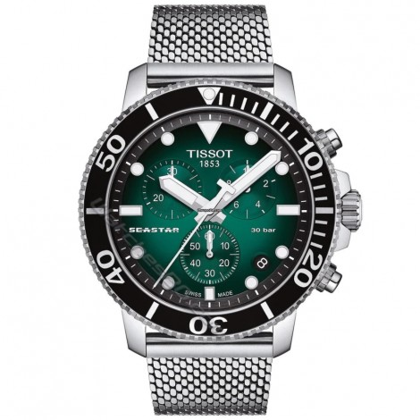 Мъжки кварцов часовник TISSOT Seastar T120.417.11.091.00 CHRONOGRAPH