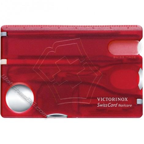 Victorinox - SwissCard Nailcare Red translucent