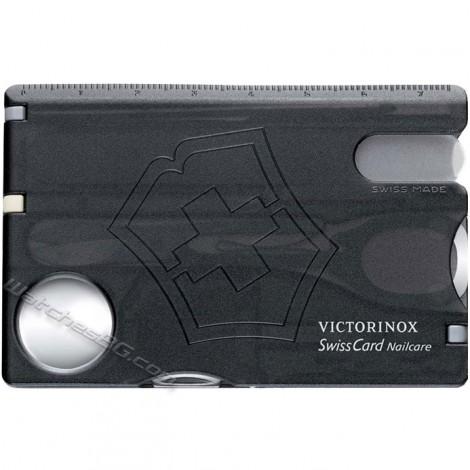 Victorinox - SwissCard Nailcare Black translucent
